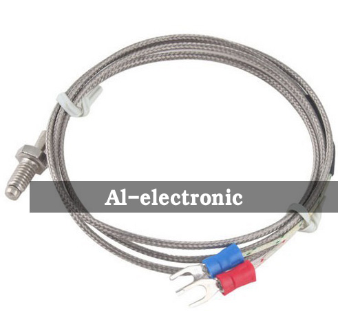 K Type Thermocouple M6 Screw Probe 0-400C  with 1m Wire Cable