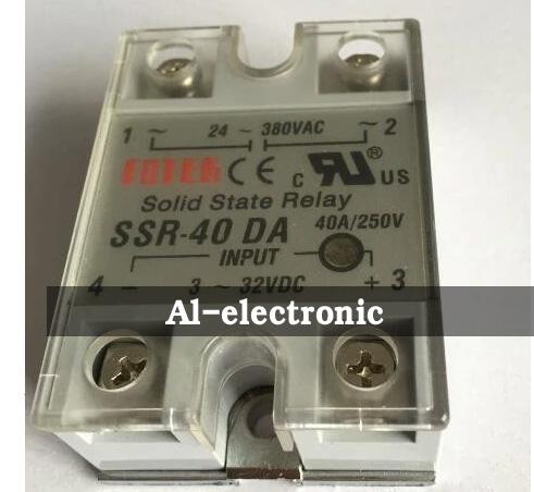Solid State Relay Module FOTEK SSR-40DA 24V-380VAC to 3-32VDC 40A/250V